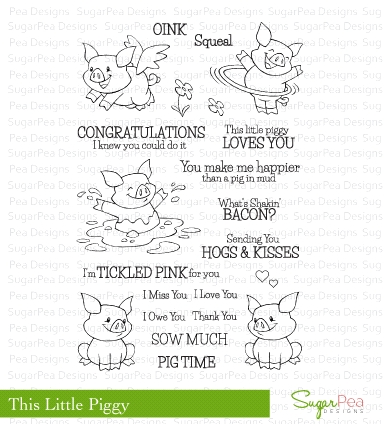 SugarPea Designs THIS LITTLE PIGGY Clear Stamp Set SPD00203* Preview Image