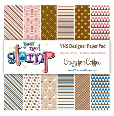 Your Next Stamp CRAZY FOR COFFEE 6X6 Paper Pack YNSPP011 Preview Image
