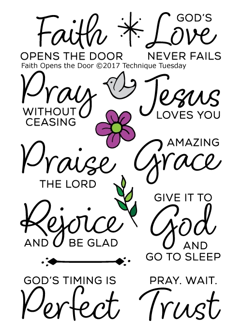 Technique Tuesday FAITH OPENS THE DOOR Clear Stamps 02478 zoom image