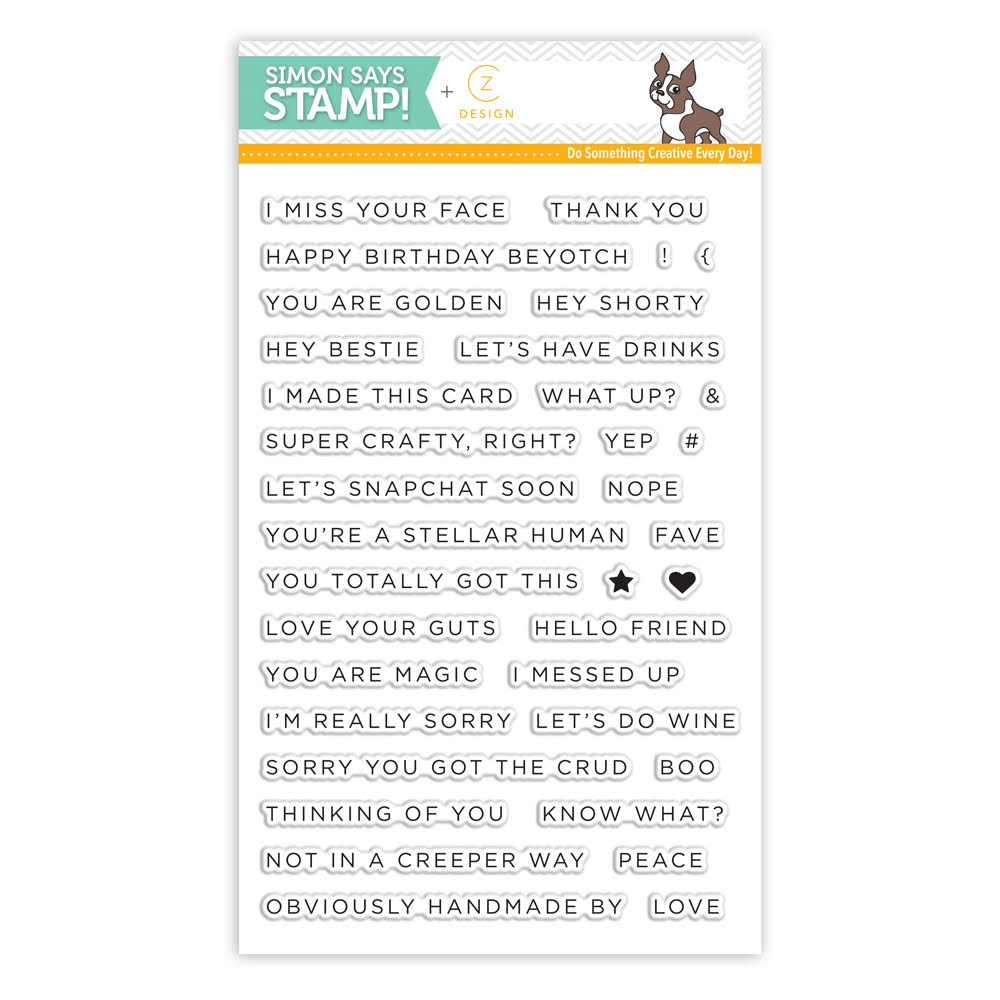 CZ Design Clear Stamps SIMPLE SENTIMENTS No. 1 CZ01 zoom image