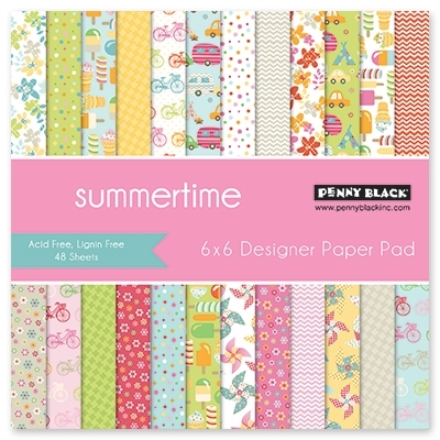 Penny Black SUMMERTIME Designer 6 X 6 Paper Pad 80-016* Preview Image