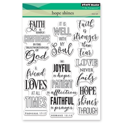 Penny Black HOPE SHINES Clear Stamp Set 30-432 Preview Image