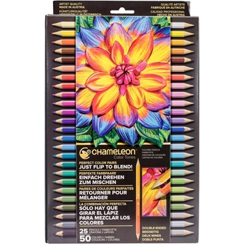 Chameleon SET OF 25 Color Tones Double-Ended Colored Pencils pe2501