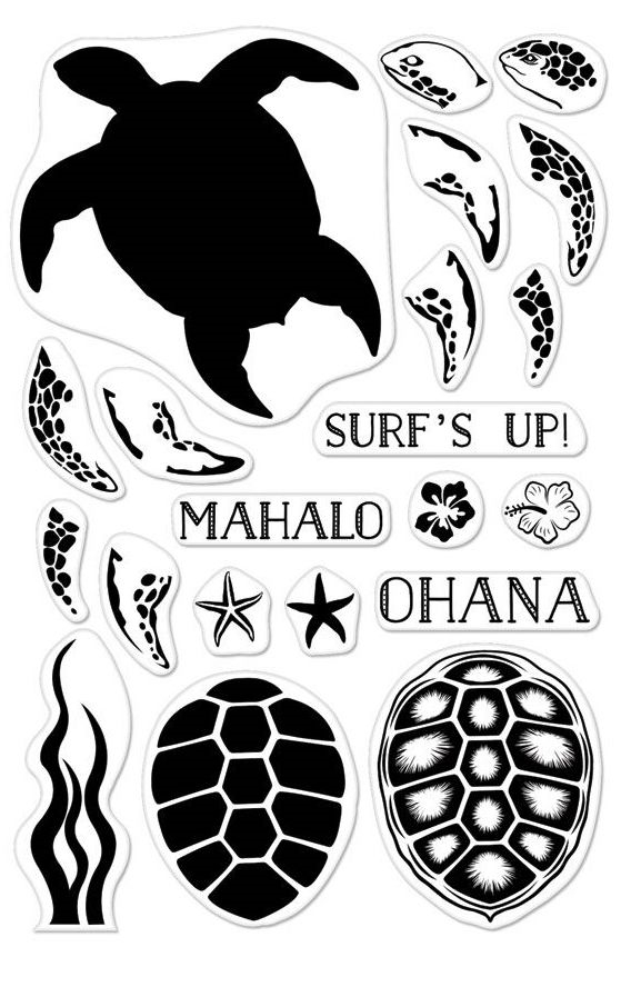 Hero Arts Clear Stamps Color Layering SEA TURTLE CM165 zoom image