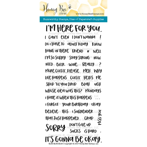 Honey Bee BLAH BLAH BLAH Clear Stamp Set HBST-060 Preview Image