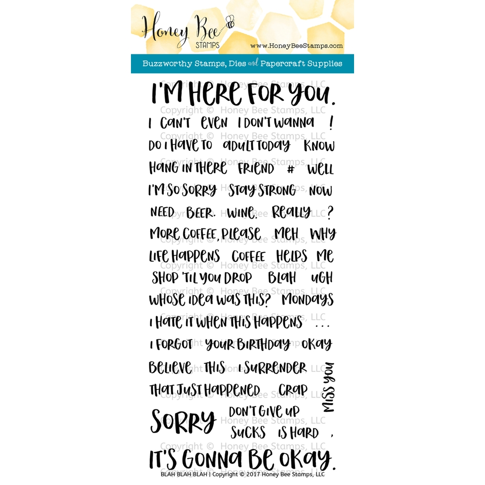 Honey Bee BLAH BLAH BLAH Clear Stamp Set HBST-060 zoom image