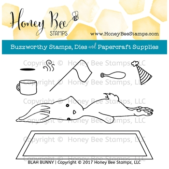 Honey Bee BLAH BUNNY Clear Stamp Set HBST-059