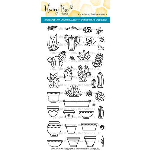 Honey Bee STICK WITH ME Clear Stamp Set HBST-057 Preview Image