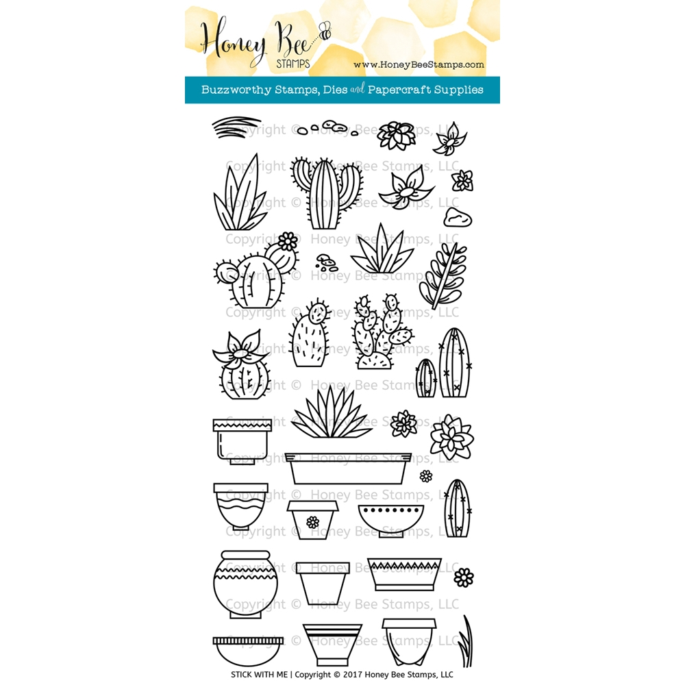 Honey Bee STICK WITH ME Clear Stamp Set HBST-057 zoom image