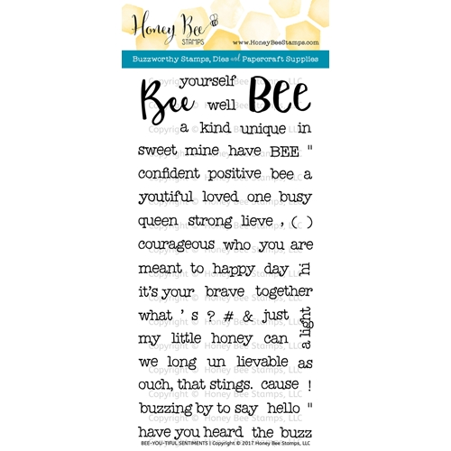 Honey Bee BEE-YOU-TIFUL SENTIMENTS Clear Stamp Set HBST-056 Preview Image