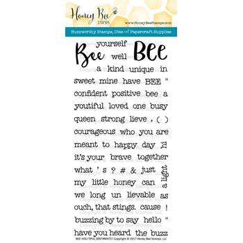 Honey Bee BEE-YOU-TIFUL SENTIMENTS Clear Stamp Set HBST-056