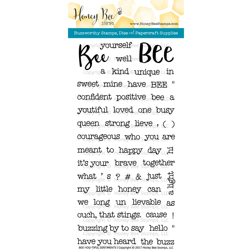 Honey Bee BEE-YOU-TIFUL SENTIMENTS Clear Stamp Set HBST-056 zoom image