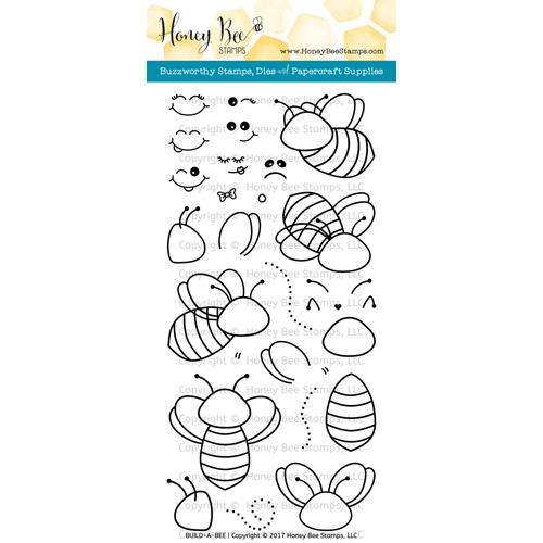 Honey Bee BUILD-A-BEE Clear Stamp Set HBST-055 Preview Image