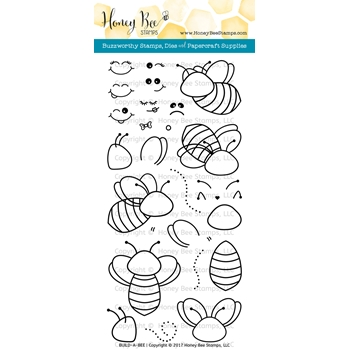 Honey Bee BUILD-A-BEE Clear Stamp Set HBST-055
