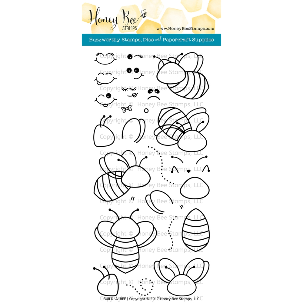 Honey Bee BUILD-A-BEE Clear Stamp Set HBST-055 zoom image