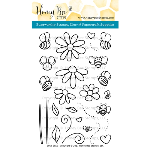 Honey Bee BUSY BEES Clear Stamp Set HBST-054 Preview Image