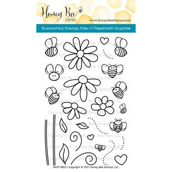 Honey Bee BUSY BEES Clear Stamp Set HBST-054