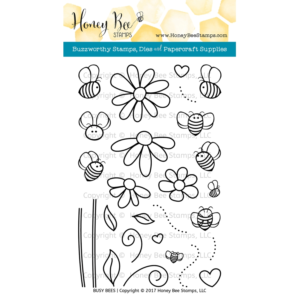 Honey Bee BUSY BEES Clear Stamp Set HBST-054 zoom image