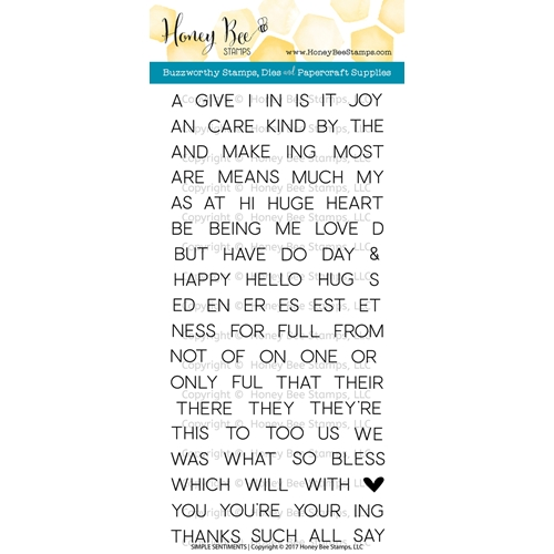 Honey Bee SIMPLE SENTIMENTS Clear Stamp Set HBST-051 Preview Image