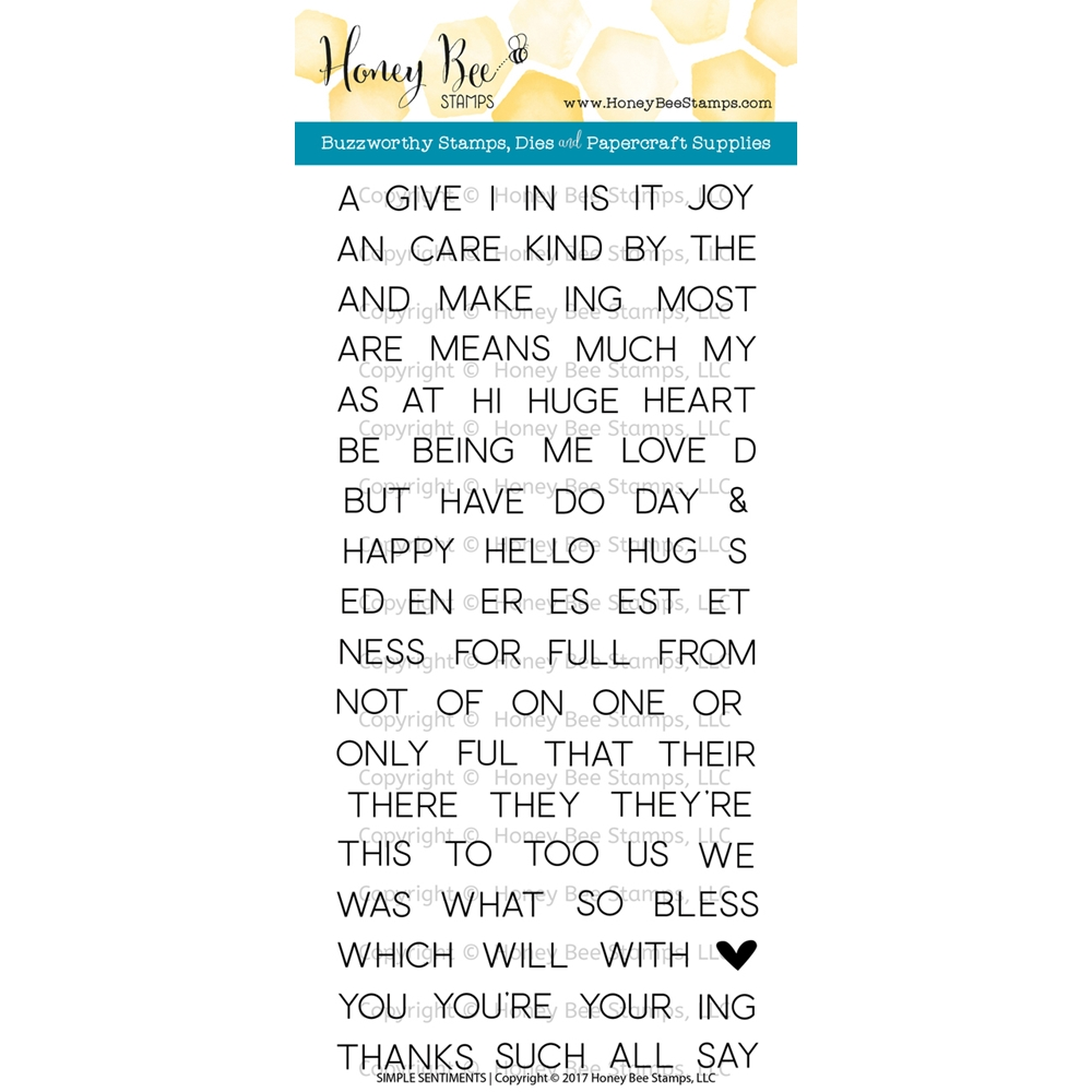 Honey Bee SIMPLE SENTIMENTS Clear Stamp Set HBST-051 zoom image