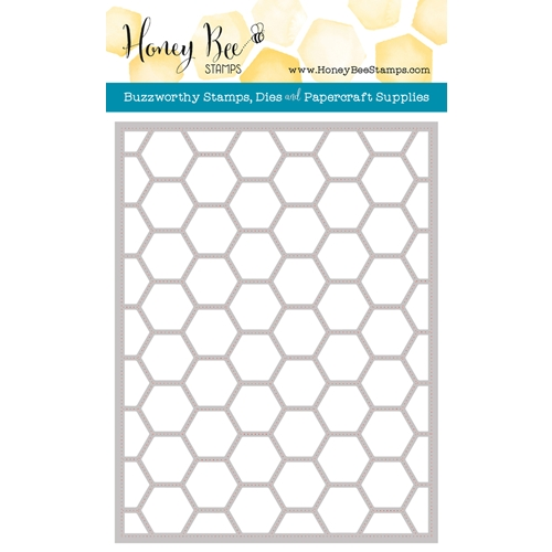 Honey Bee HEXAGON COVER PLATE STIPPLE Die HBDS-HXPLT4 Preview Image