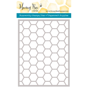 Honey Bee HEXAGON COVER PLATE STIPPLE Die HBDS-HXPLT4