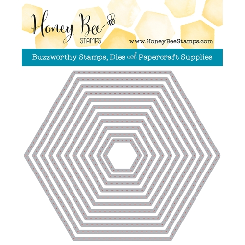 Honey Bee HEXAGON STITCHED STACK Dies HBDS-HXSTST* Preview Image