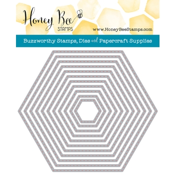 Honey Bee HEXAGON STITCHED STACK Dies HBDS-HXSTST