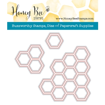 Honey Bee HEXAGON BUNCHES Dies HBDS-HXBNCH