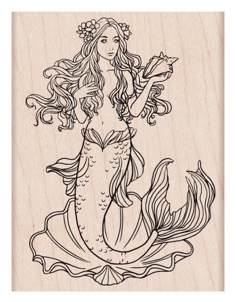 Hero Arts Rubber Stamp MERMAID K6229 zoom image