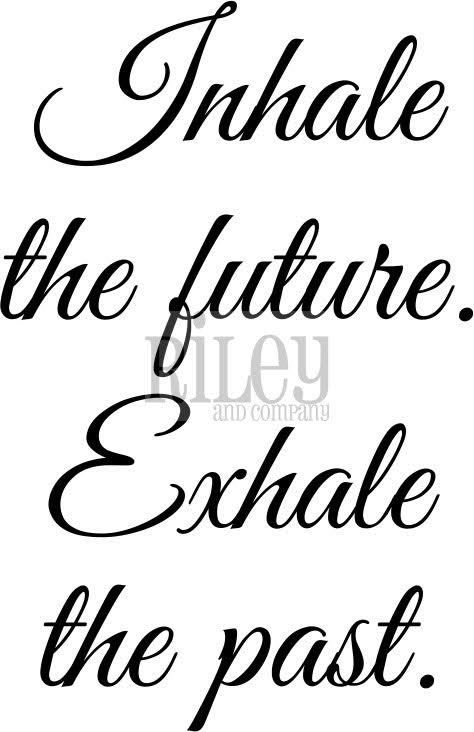 Riley and Company Funny Bones INHALE THE FUTURE Cling Rubber Stamp RWD 586 zoom image