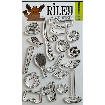 Riley and Company Clear Stamp SPORTS  ACCESSORIES RCLR05*