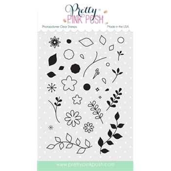 Pretty Pink Posh BUILD A BLOOM Clear Stamp Set