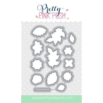 Pretty Pink Posh BOLD BLOOMS COORDINATING DIE Set