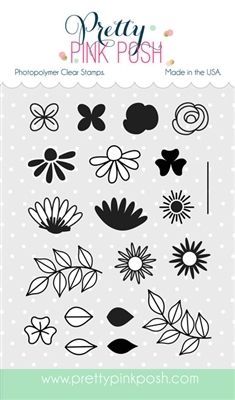 Pretty Pink Posh BOLD BLOOMS Clear Stamp Set  zoom image