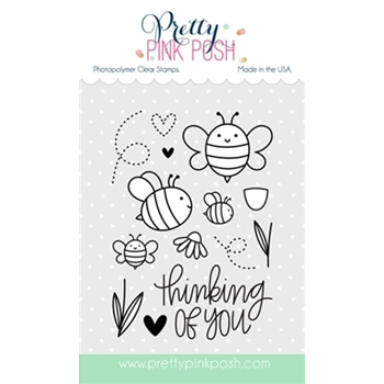 Pretty Pink Posh BEE FRIENDS Clear Stamp Set