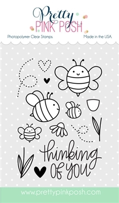 Pretty Pink Posh BEE FRIENDS Clear Stamp Set  zoom image