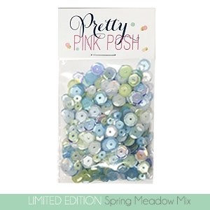 Pretty Pink Posh SPRING MEADOW MIX Sequins  zoom image