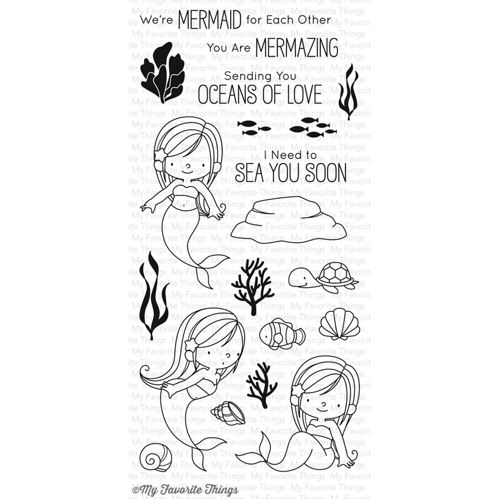 My Favorite Things MERMAZING Clear Stamps BB45 zoom image