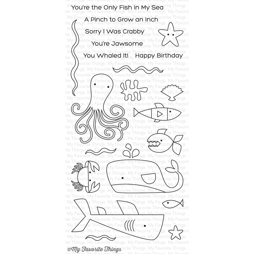 My Favorite Things OCEAN PALS Clear Stamps CS197 zoom image