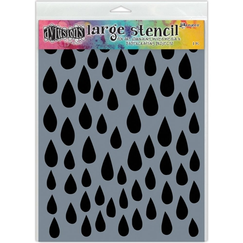 Dyan Reaveley Stencil 9 x 12 RAINDROPS Dylusions Ranger DYS52302 Preview Image