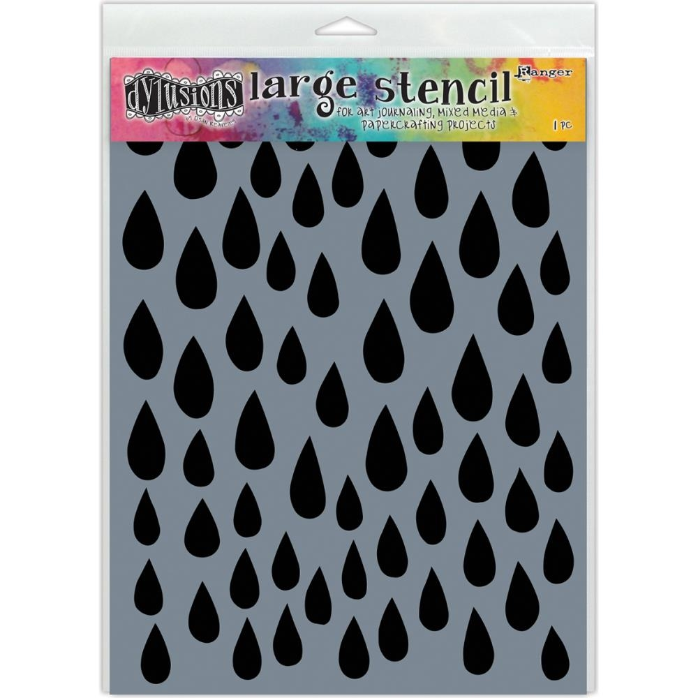 Dyan Reaveley Stencil 9 x 12 RAINDROPS Dylusions Ranger DYS52302 zoom image