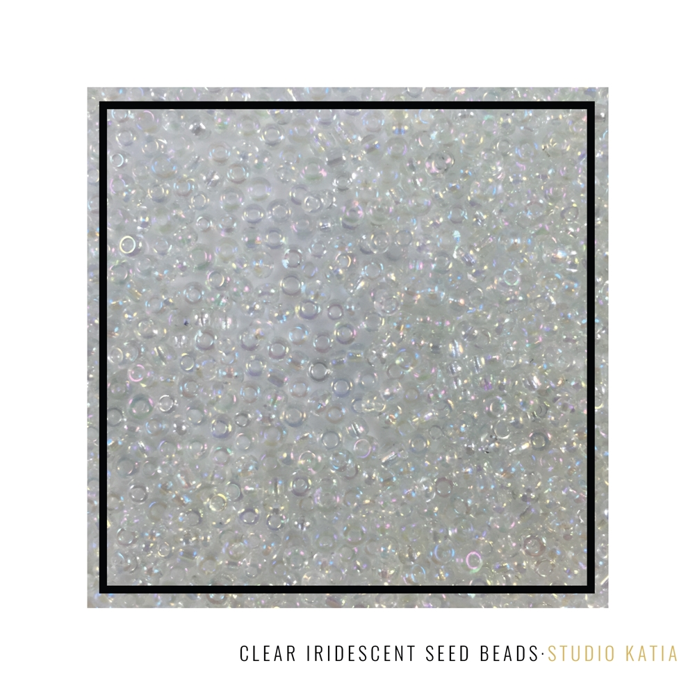 Studio Katia CLEAR IRIDESCENT Seed Beads SK2613 zoom image