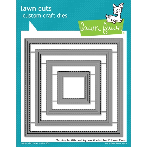 Lawn Fawn OUTSIDE IN STITCHED SQUARE STACKABLES Lawn Cuts LF1443 Preview Image