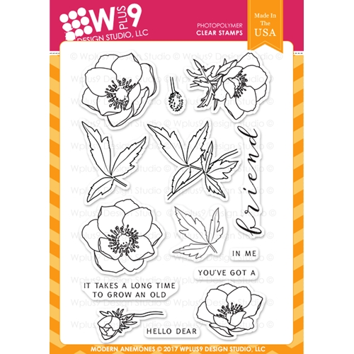 Wplus9 MODERN ANEMONES Clear Stamps CL-WP9MA Preview Image
