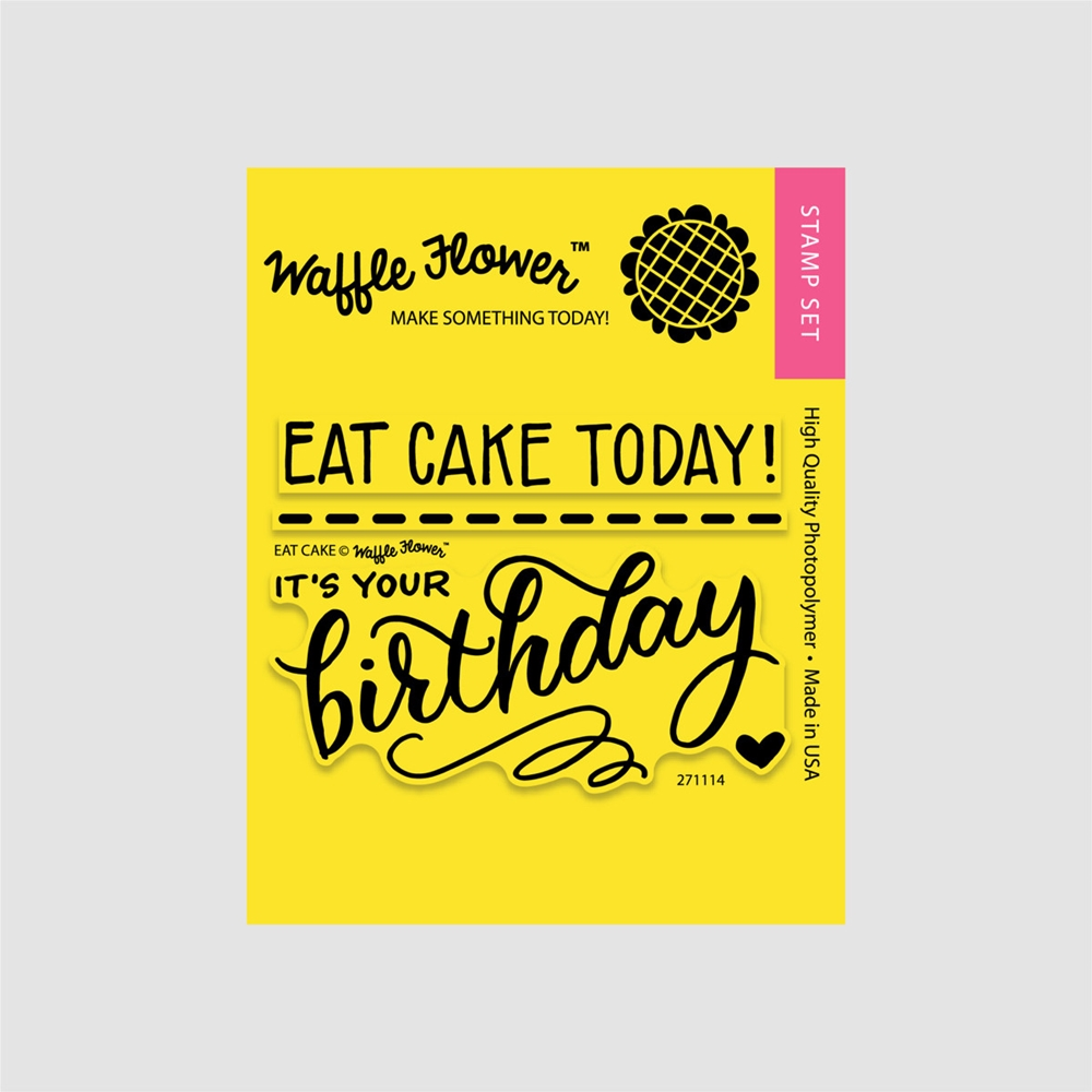 Waffle Flower EAT CAKE Clear Stamp Set 271114 zoom image