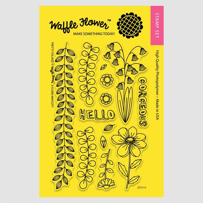 Waffle Flower PRETTY FOLIAGE Clear Stamp Set 271111 zoom image