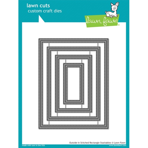 Lawn Fawn OUTSIDE IN STITCHED RECTANGLE STACKABLES Lawn Cuts LF1442 Preview Image