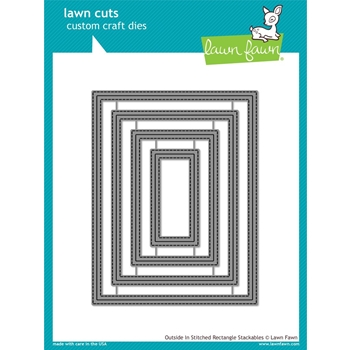 Lawn Fawn OUTSIDE IN STITCHED RECTANGLE STACKABLES Lawn Cuts LF1442