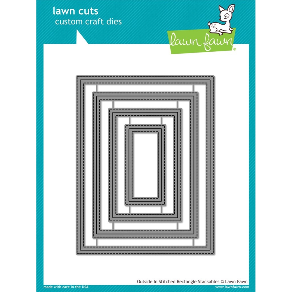 Lawn Fawn OUTSIDE IN STITCHED RECTANGLE STACKABLES Lawn Cuts LF1442 zoom image
